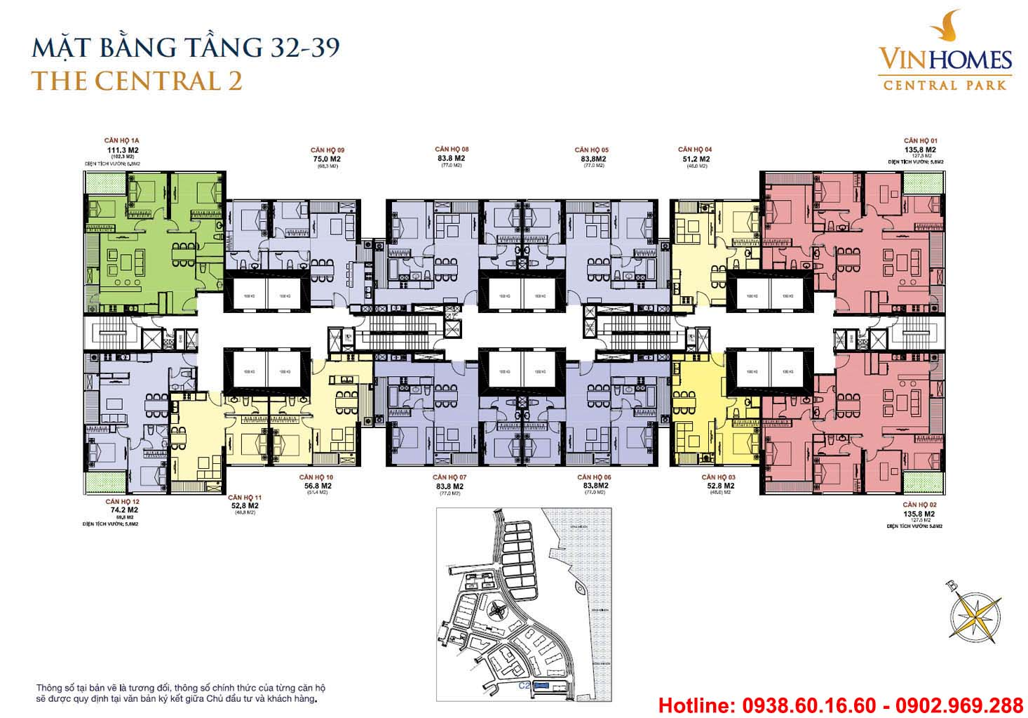 Mặt Bằng Tằng 32-39 -Central 2